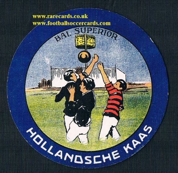 1950s Dutch Belgian cheese basketball round label card